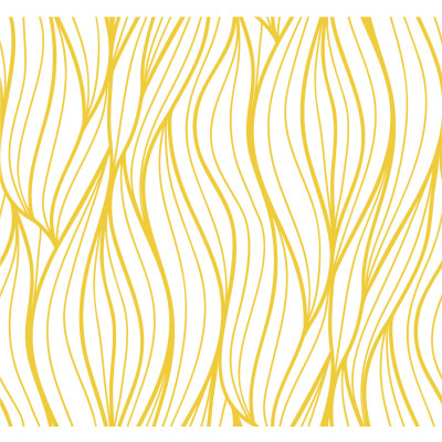 Papel de Parede Ondas Abstratas (Amarelas)