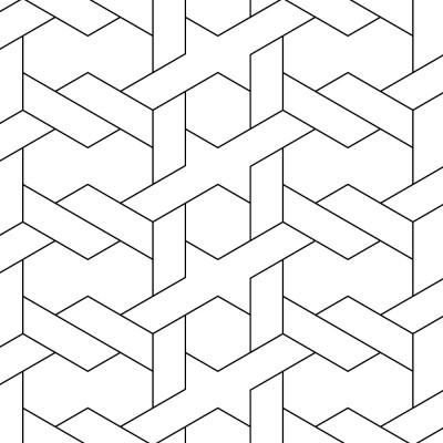 Papel de Parede Branco Geométrico Abstrato ll