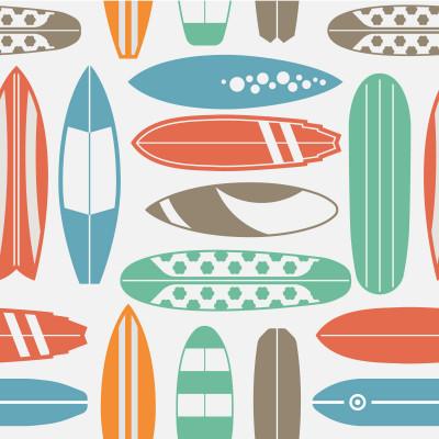 Papel de Parede Surf Pranchas