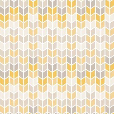 Papel de Parede Setas Cinzas e Amarelas