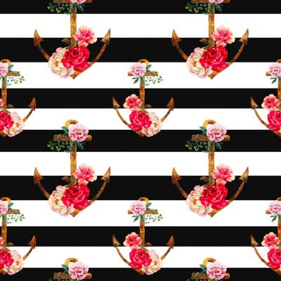 Papel de Parede Âncora com Flores