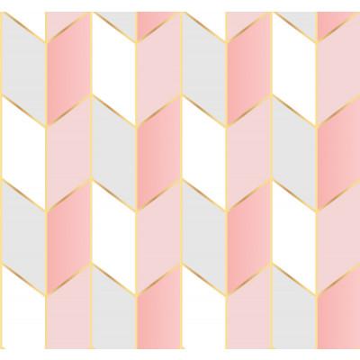Papel de Parede Setas Abstratas Tons de Rosa