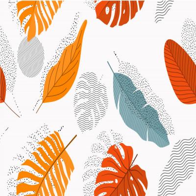 Papel de Parede Folhas Tropicais Abstratas