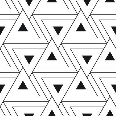 Papel de Parede Triângulos Abstratos Pretos