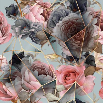 Papel de Parede Flores Coloridas Abstrato