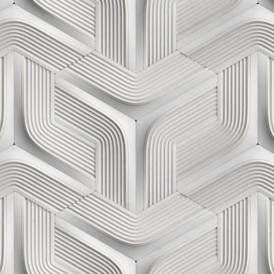 Papel de Parede Branco de Gesso 3D