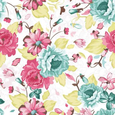 Papel de Parede Jardim de Flores