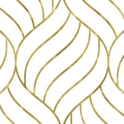 Papel de Parede Conchas Geométricas (Ouro)