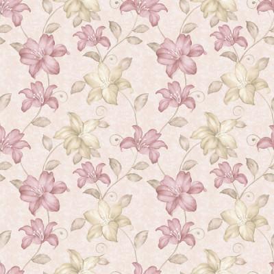 Papel de Parede Flores Lírios Tons Pasteis
