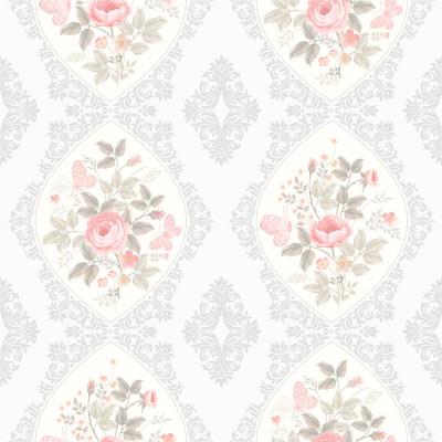 Papel de Parede Floral Romântico Delicado