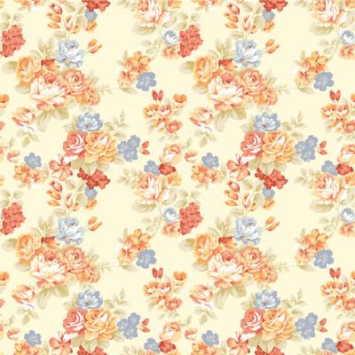 Papel de Parede Floral Infantil ( Tons Pasteis )