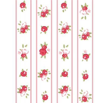 Papel de Parede Florzinhas Vermelhas