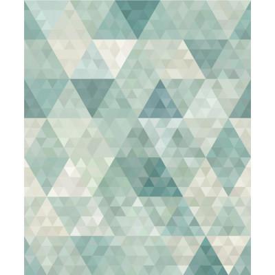 Papel de Parede Triângulos Verdes