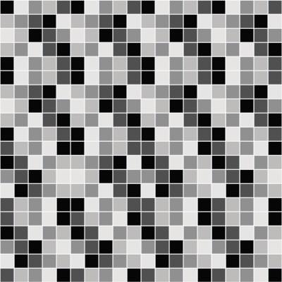 Papel de Parede Pastilhas Preto e Branco
