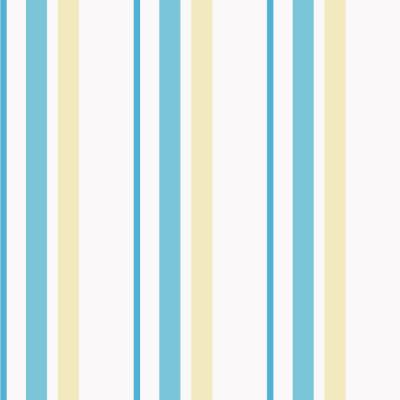 Papel de Parede Listras Amarelo e Tons de Azul