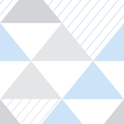 Papel de Parede Triângulos Azul e Cinza (Grande)