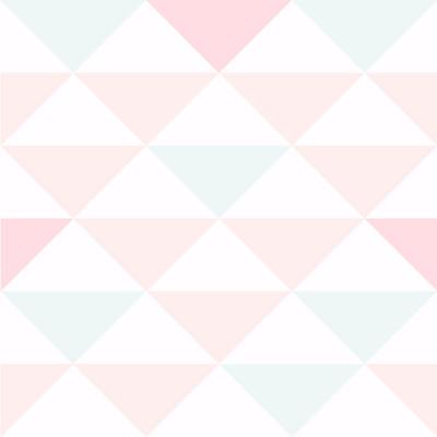 Papel de Parede Triângulos Tons de Rosa