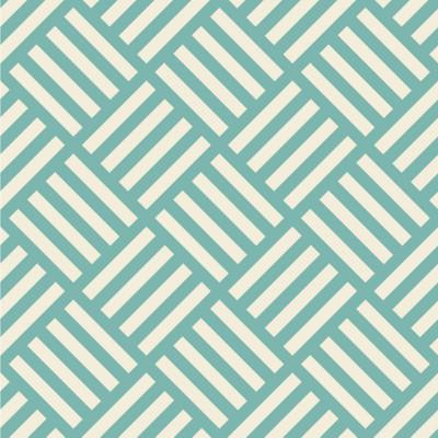 Papel de Parede Geométrico Abstrato Verde Turquesa