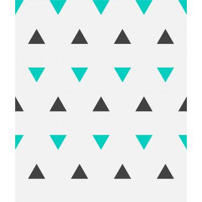 Papel de Parede Triângulos Azul e Chumbo