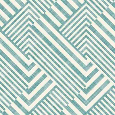 Papel de Parede Verde Turquesa Geométrico Abstrato