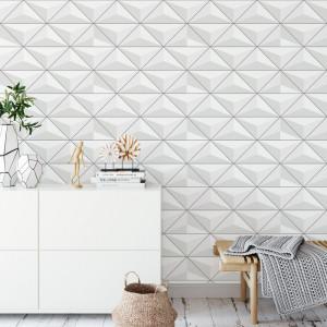 Papel de Parede 3D Formato em Triângulos